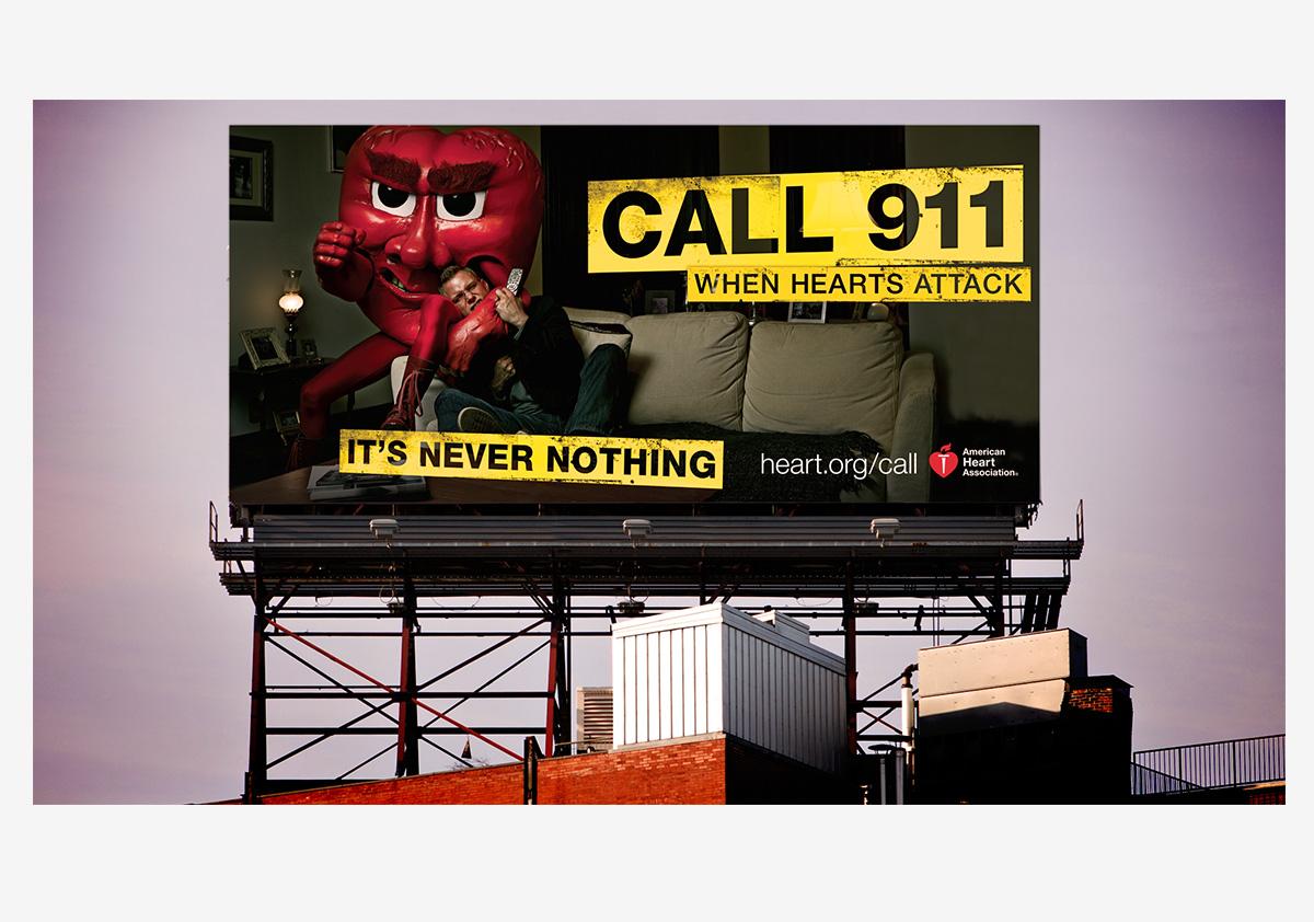 American Heart Association When Hearts Attack Billboard