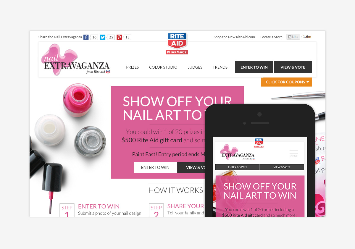 Rite Aid Nails Extravaganza Responsive Site