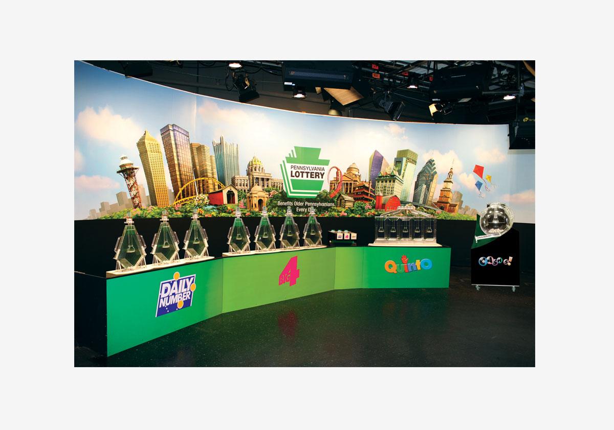 PA Lottery TV Drawing Set